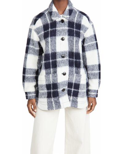 Рубашка с длинными рукавами в клетку с карманами Madewell