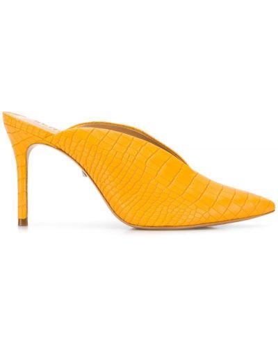 Мюли на каблуке желтый Schutz