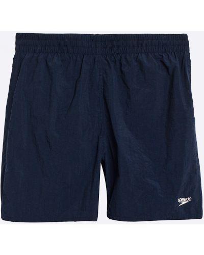 Нейлоновые синие плавки с карманами Speedo