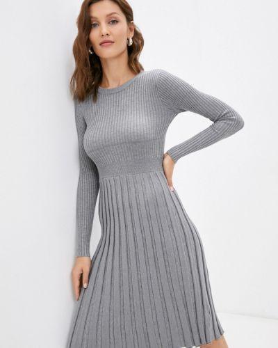 Серое зимнее платье Izabella