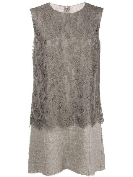 Прямое ажурное платье винтажное без рукавов Dolce & Gabbana Pre-owned