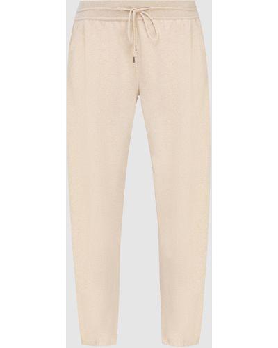 Повседневные кашемировые бежевые брюки Loro Piana
