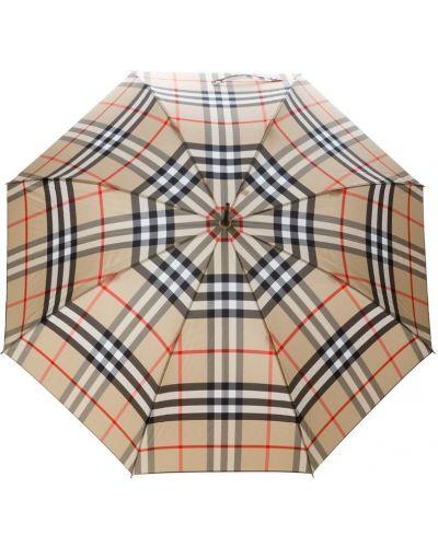 Бежевый зонт в клетку Burberry
