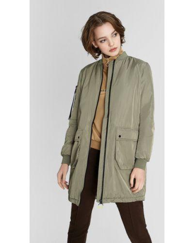 Зеленая куртка с воротником с разрезом Ostin
