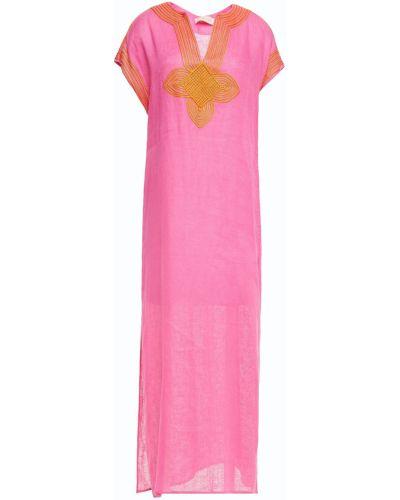 Różowy kaftan z haftem Tory Burch