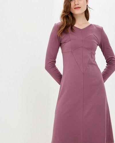 Платье осеннее фиолетовый Coclo
