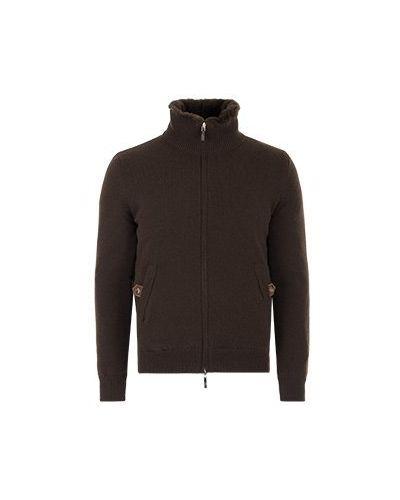 Кашемировая коричневая куртка Svevo