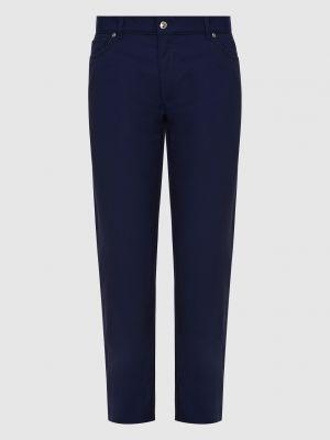 Шерстяные брюки - синие Castello D'oro