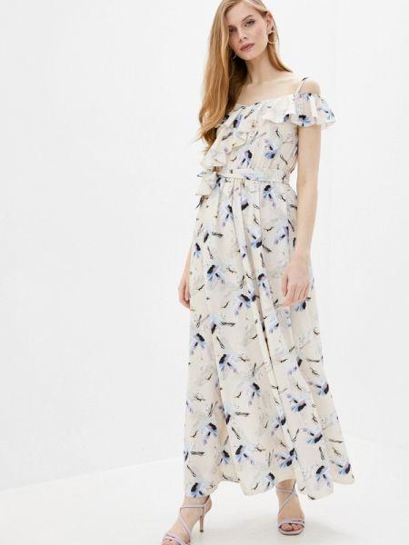 Платье прямое бежевое Imocean