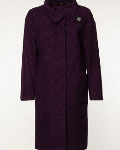 Красное шерстяное пальто с воротником синар