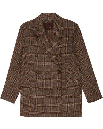 Пиджак в клетку шерстяной Chapurin