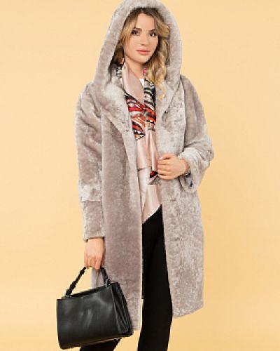 Пальто с капюшоном - бежевое каляев