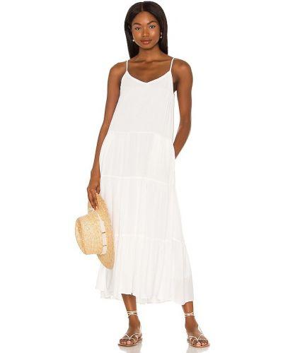 Хлопковое платье макси - белое 1. State