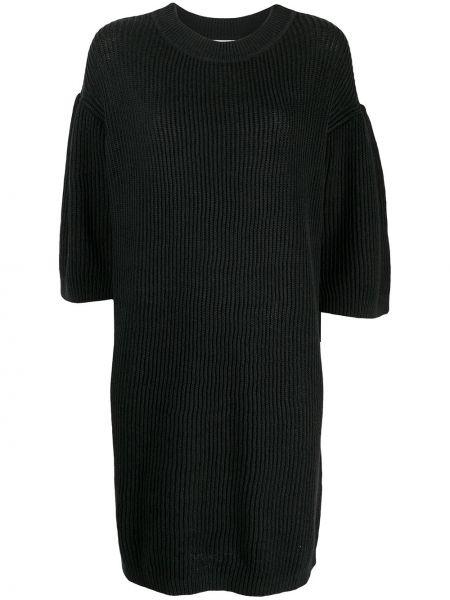 Трикотажное черное платье мини с вырезом See By Chloé