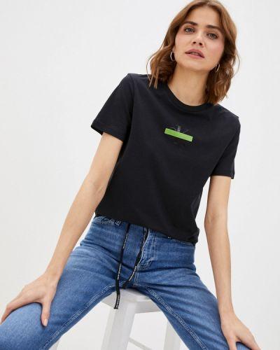 Черная футболка с короткими рукавами Calvin Klein Jeans