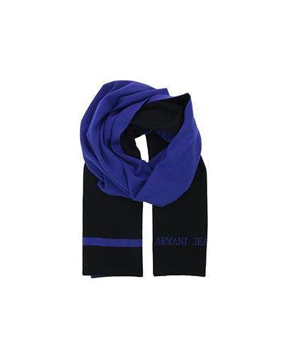 Синий шарф шерстяной Armani Jeans