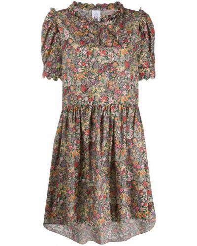 Платье миди с цветочным принтом платье-солнце Horror Vacui