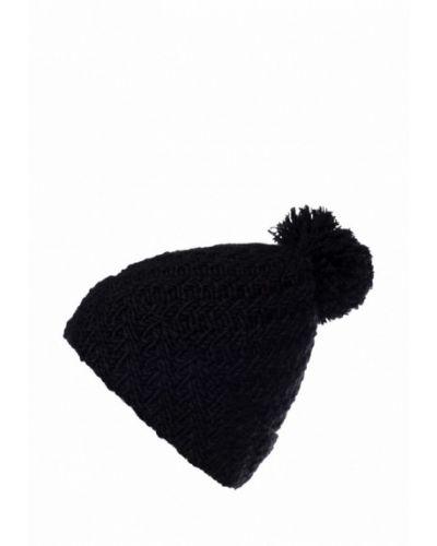 Черная шапка с помпоном Check Ya Head