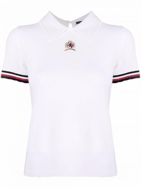 Белое хлопковое поло Hilfiger Collection