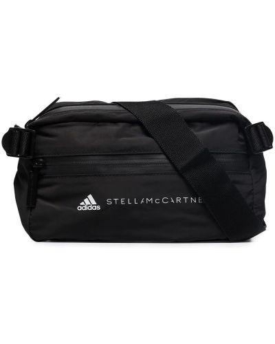 Черный ремень из полиэстера Adidas By Stella Mccartney