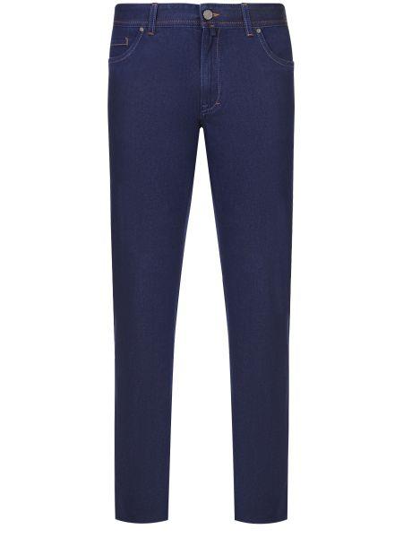 Синие джинсы с карманами с нашивками на пуговицах Castangia