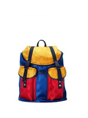 Niebieski plecak z klamrą Gucci Kids
