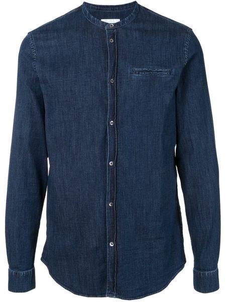 Koszula z długim rękawem dżinsowa długa Dondup