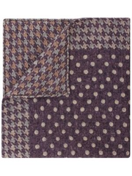 С орнаментом шерстяной фиолетовый платок Brunello Cucinelli