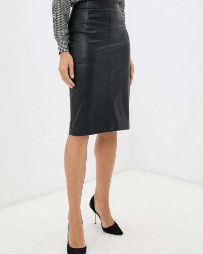 Черная зимняя юбка Lusio