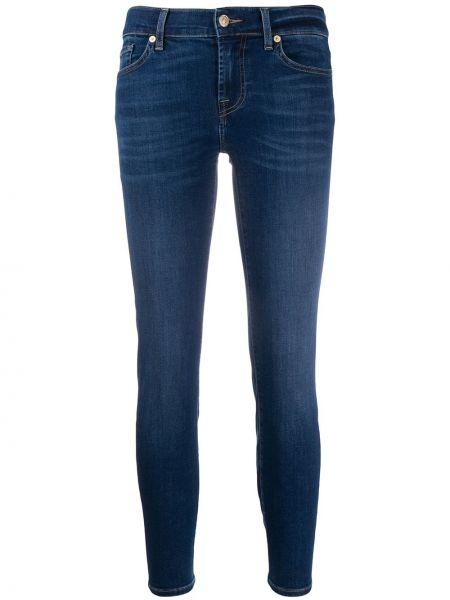 Укороченные джинсы скинни эластичные 7 For All Mankind