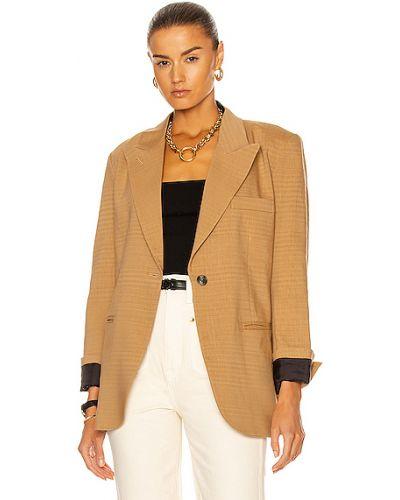 Льняной пиджак с карманами Smythe