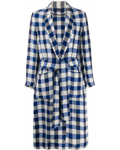 Синее пальто классическое с капюшоном Antonelli