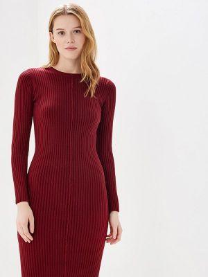 Платье бордовый вязаное Lorani