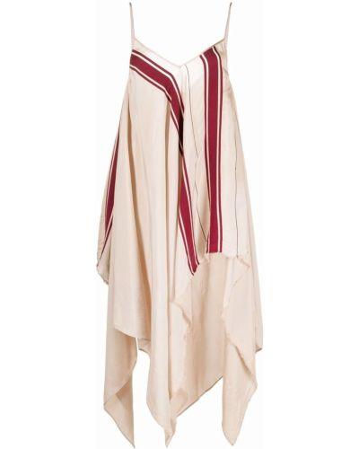 Асимметричное платье с вырезом с драпировкой Uma Wang