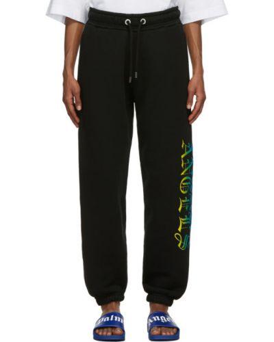 Frotte prosto czarny spodnie z kieszeniami Palm Angels