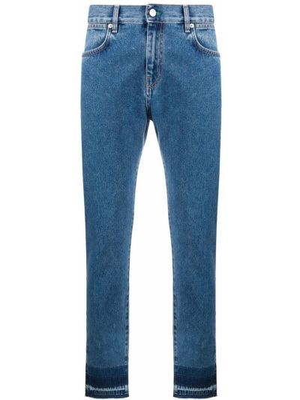 Klasyczne mom jeans - niebieskie Mcq Alexander Mcqueen