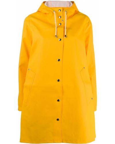 Желтый дождевик с капюшоном из плащевки Stutterheim