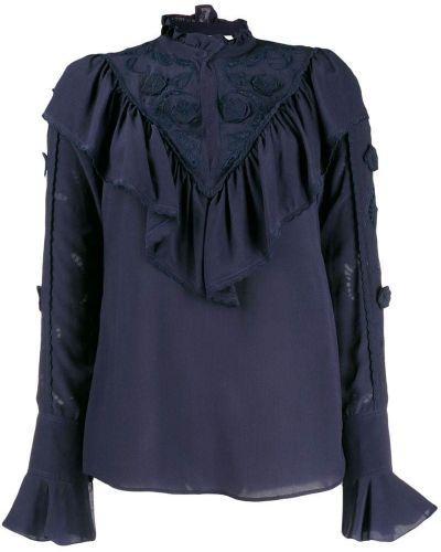 Блузка с цветочным принтом синяя See By Chloe