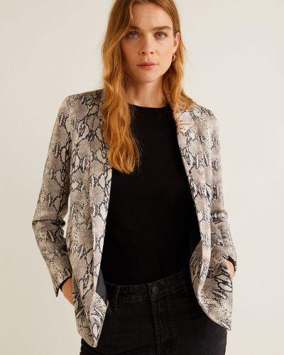 Классический пиджак бежевый с подкладкой Mango