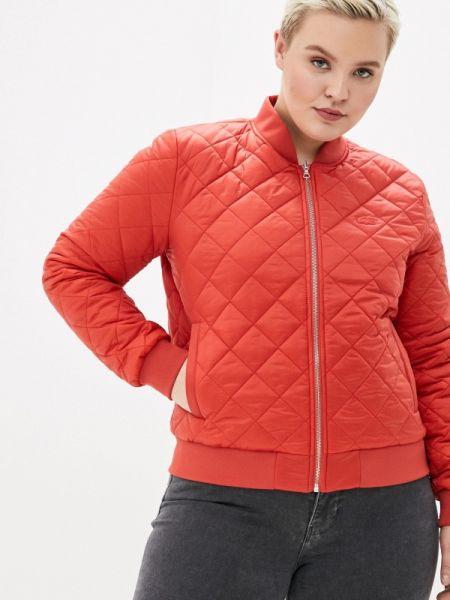 Теплая оранжевая утепленная куртка Lacoste