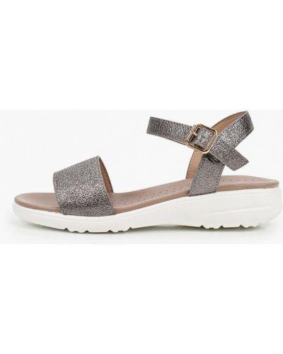 Кожаные серебряные сандалии Inario