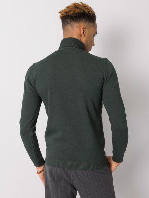 Klasyczny ciepły sweter khaki Fashionhunters