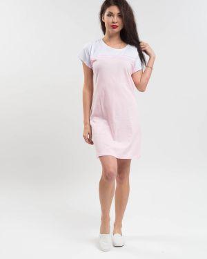 Хлопковое розовое платье Samo