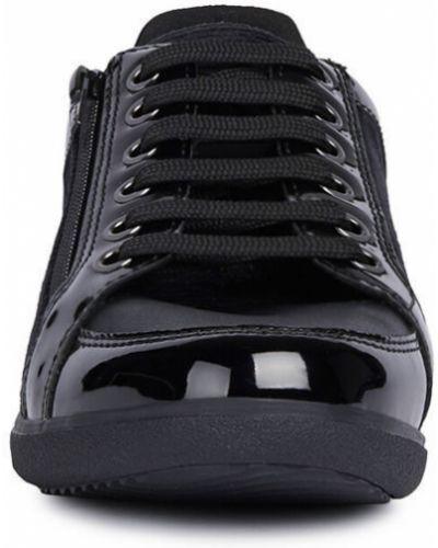 Текстильные черные ботинки на шнуровке Geox