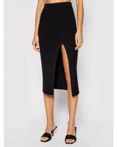 Czarna spódnica ołówkowa Kontatto