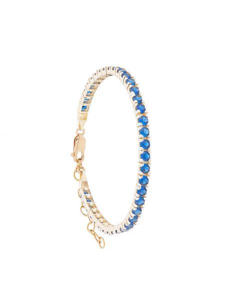 Синий браслет позолоченный Hues