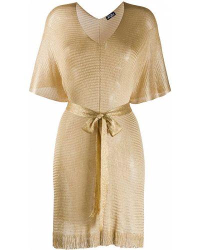 Кафтан золотой с вырезом с короткими рукавами Mc2 Saint Barth