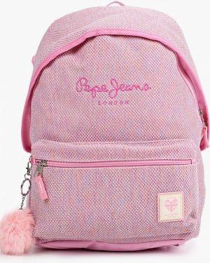 Текстильные розовые джинсы Pepe Jeans
