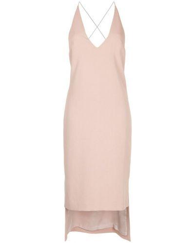 Платье миди розовое с открытой спиной Dion Lee