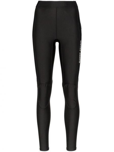 Czarne legginsy z wysokim stanem z printem Ambush